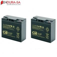 Endura 18Amp/h - 12V Wheelchair Battery Set (Lead Acid)